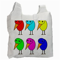 Colorful birds Recycle Bag (Two Side)