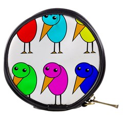 Colorful birds Mini Makeup Bags