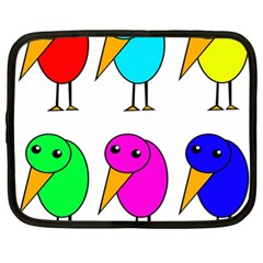Colorful birds Netbook Case (XL)