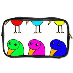 Colorful birds Toiletries Bags