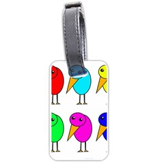 Colorful birds Luggage Tags (One Side)