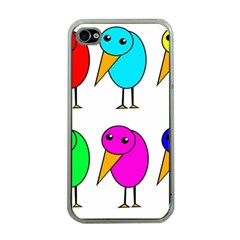 Colorful birds Apple iPhone 4 Case (Clear)