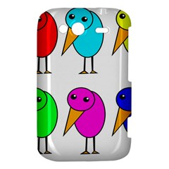 Colorful birds HTC Wildfire S A510e Hardshell Case