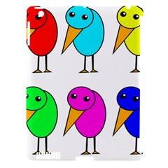 Colorful birds Apple iPad 3/4 Hardshell Case (Compatible with Smart Cover)