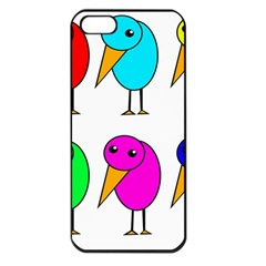 Colorful birds Apple iPhone 5 Seamless Case (Black)