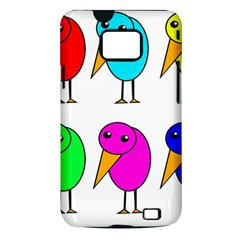 Colorful birds Samsung Galaxy S II i9100 Hardshell Case (PC+Silicone)