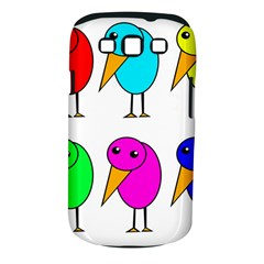 Colorful birds Samsung Galaxy S III Classic Hardshell Case (PC+Silicone)