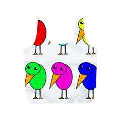 Colorful Birds Full Print Recycle Bags (s)