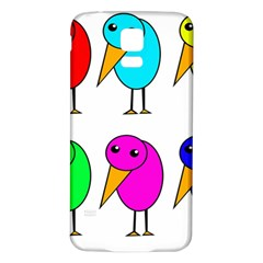 Colorful birds Samsung Galaxy S5 Back Case (White)