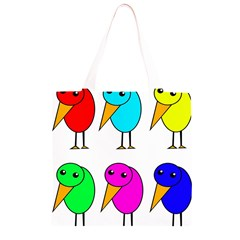 Colorful birds Grocery Light Tote Bag