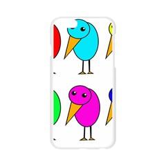 Colorful birds Apple Seamless iPhone 6/6S Case (Transparent)