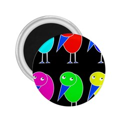 Colorful birds 2.25  Magnets