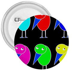 Colorful birds 3  Buttons