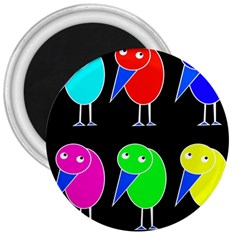 Colorful birds 3  Magnets
