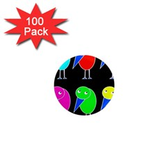Colorful birds 1  Mini Magnets (100 pack)