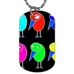 Colorful birds Dog Tag (One Side)