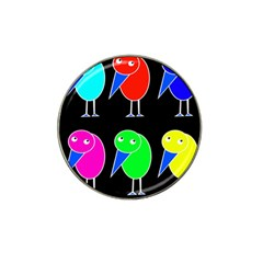 Colorful birds Hat Clip Ball Marker (4 pack)