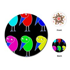 Colorful birds Playing Cards (Round)