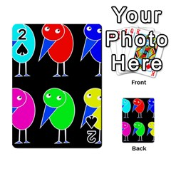 Colorful birds Playing Cards 54 Designs