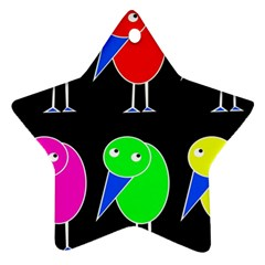 Colorful birds Star Ornament (Two Sides)