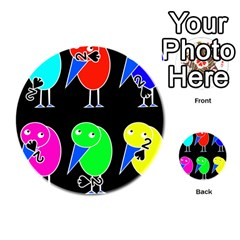 Colorful birds Playing Cards 54 (Round)
