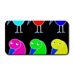 Colorful birds Medium Bar Mats