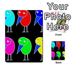 Colorful birds Multi-purpose Cards (Rectangle)