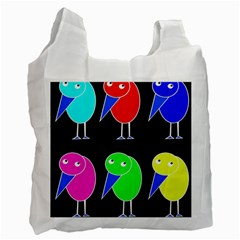Colorful birds Recycle Bag (One Side)