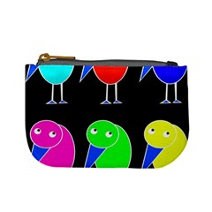 Colorful birds Mini Coin Purses