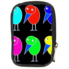 Colorful birds Compact Camera Cases