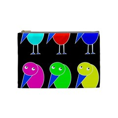 Colorful birds Cosmetic Bag (Medium)