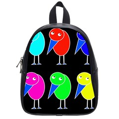 Colorful birds School Bags (Small)