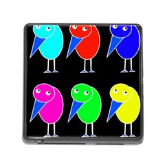 Colorful birds Memory Card Reader (Square)