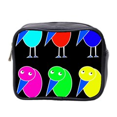 Colorful birds Mini Toiletries Bag 2-Side