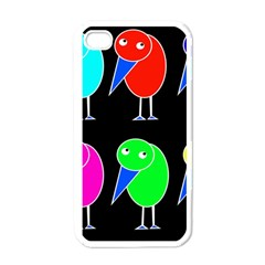 Colorful birds Apple iPhone 4 Case (White)