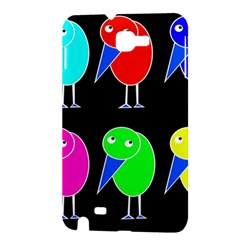 Colorful birds Samsung Galaxy Note 1 Hardshell Case