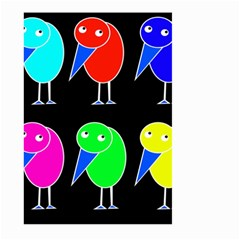 Colorful birds Large Garden Flag (Two Sides)