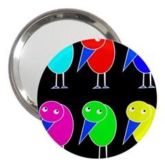 Colorful birds 3  Handbag Mirrors