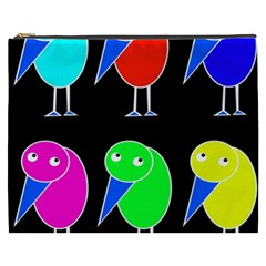 Colorful birds Cosmetic Bag (XXXL)