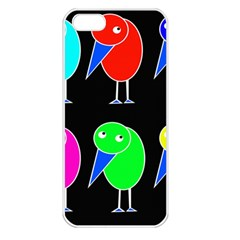 Colorful birds Apple iPhone 5 Seamless Case (White)