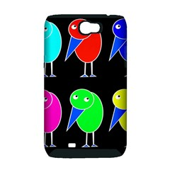 Colorful birds Samsung Galaxy Note 2 Hardshell Case (PC+Silicone)