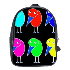 Colorful birds School Bags (XL)
