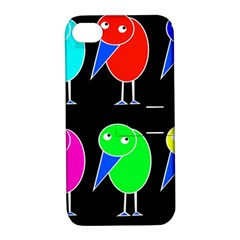 Colorful birds Apple iPhone 4/4S Hardshell Case with Stand
