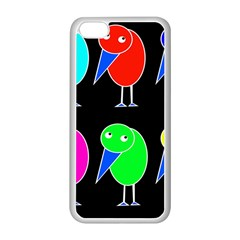 Colorful birds Apple iPhone 5C Seamless Case (White)