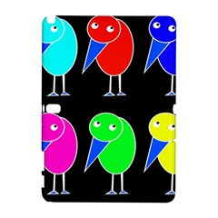 Colorful birds Samsung Galaxy Note 10.1 (P600) Hardshell Case