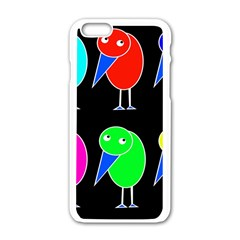 Colorful birds Apple iPhone 6/6S White Enamel Case