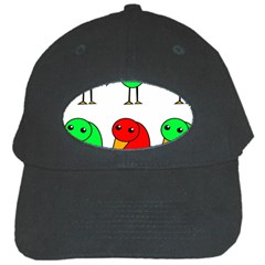 Green and red birds Black Cap