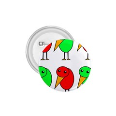 Green and red birds 1.75  Buttons