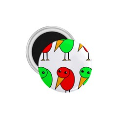 Green and red birds 1.75  Magnets