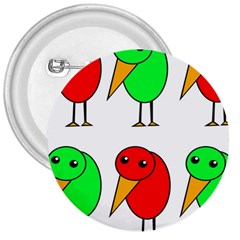 Green and red birds 3  Buttons
